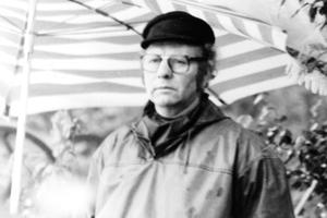 Rudi Zeiler beim Pressefestwettkampf 1980 am Böllberger Wehr