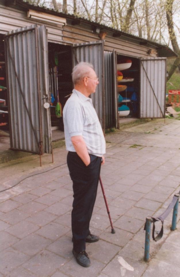 Rudi Zeiler vor dem BSV Bootshaus